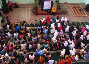 SMP Al-Fath Cirendeu Bermain Angklung Bersama AAI (Asosiasi Angklung Indonesia)