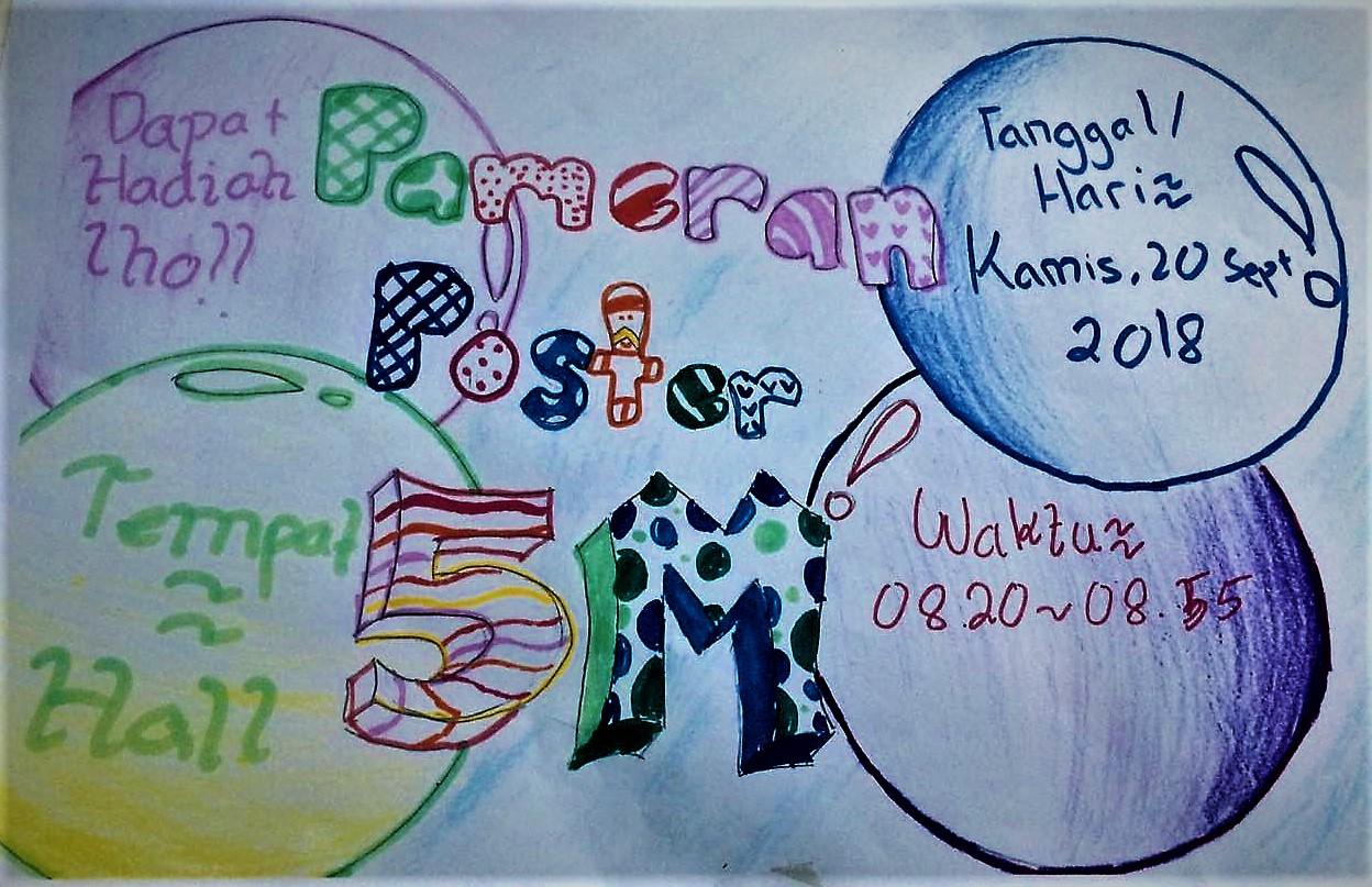 Pesan Hidup Sehat Melalui Pameran Poster Alfath School